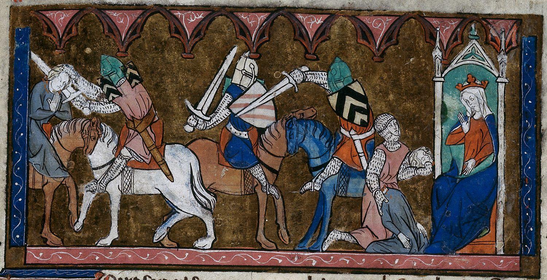 Manuscript miniatures bl royal 20 d iv lancelot du lac for Erotismo d epoca