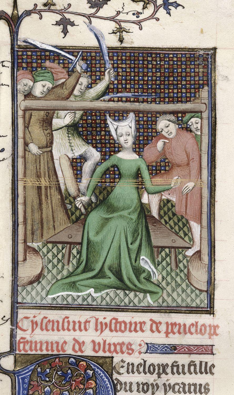 Royal 20 C V f. 61v Penelopa. . I ćw. XV wieku. British Library