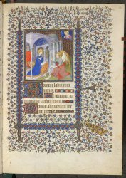 Miniature attributed to the Mazarine Master (named after Paris, Bibliotheque Mazarine, ms. 469), Yates Thompson MS 46, f. 25