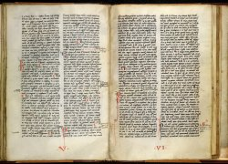 End of quire V and beginning of quire VI, Arundel MS 167, ff. 40v-41
