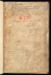 Note the added list of contents and probable shelfmark CXIII, Arundel MS 217, f. 1