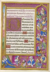 Hours of the Virgin for the use of Rome, as announced in the rubric, Egerton MS 1149, f. 42
