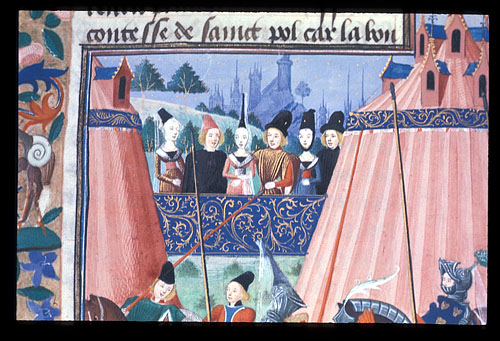 Courtiers at a joust