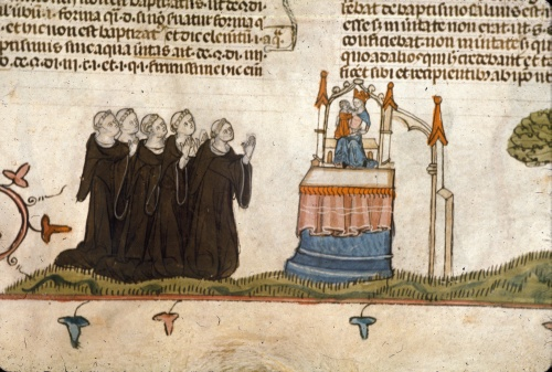 Monks and the Virgin
