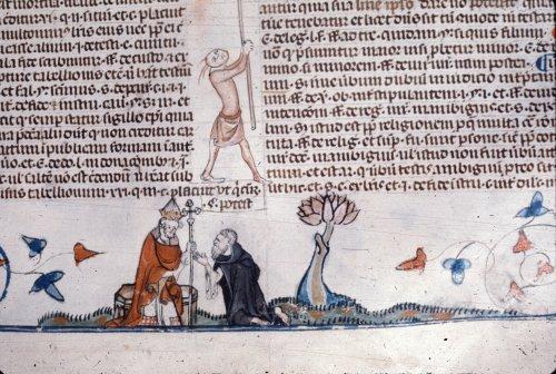 Hermit making confession