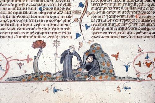 Monk leading hermit
