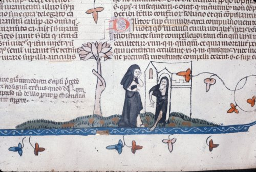 Nun visiting hermit