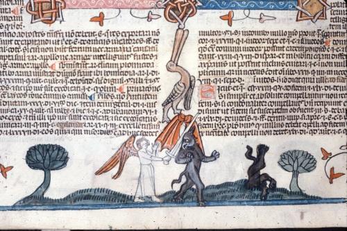 Angel slaying devils