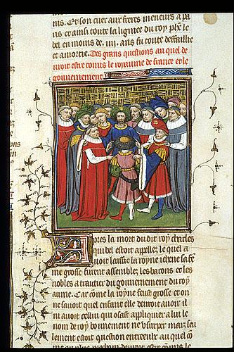 Nobles discussing succession