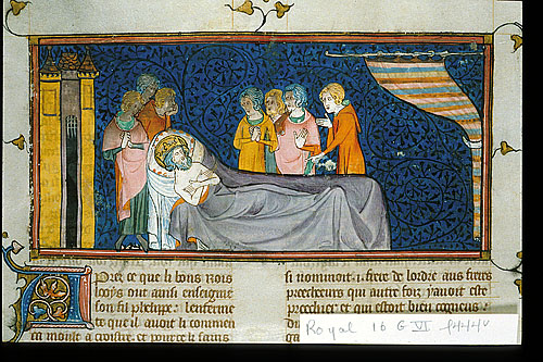Louis IX on his death-bed