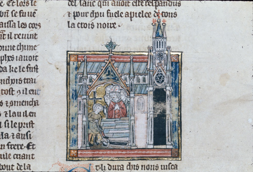Joseph of Arimathea supervising a grave