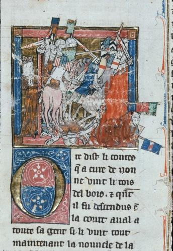 Lancelot defending the queen