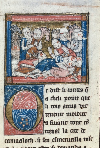 Knights grieving over the dead
