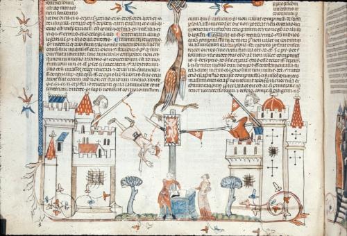 Battle between castles