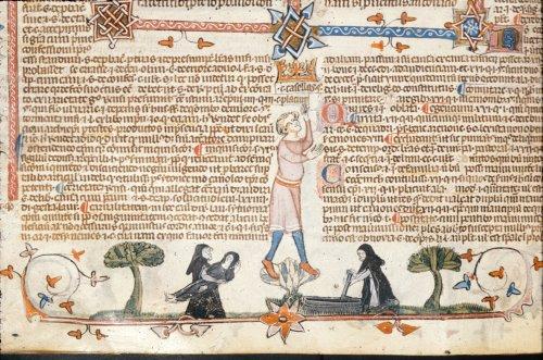 Monk carrying a dead nun
