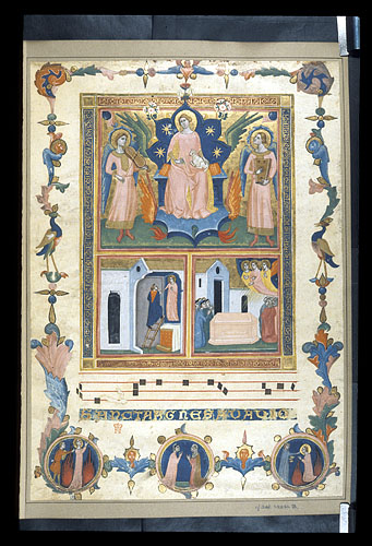 Agnes Enthroned and Scenes from Her Legend