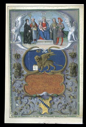 Commission from Leonardo Loredan to Antonio Foscarini