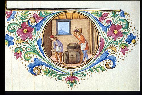 Men making barrels