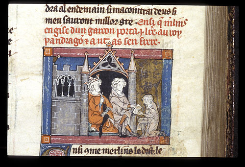 Merlin gives letter to Pendragon and Uther