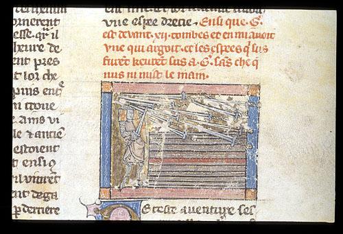 Gawain before the twelve tombs