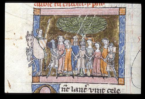 Lancelot joins the enchanted dance