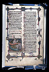 Historiated initial 'S'(alvum) with the Lord and a sinner ...