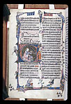 Musical notation, heraldic decoration and David