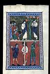 Death of Judas; Flagellation of Christ