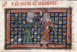 Bel-Acoeil taking the chaplet and mirror