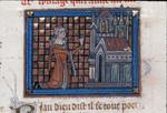 Pygmalion praying before the temple
