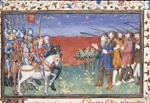 Battle with sword-horned men