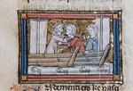 Celidoine encountering two men