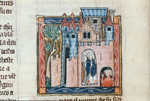 Joseph and companions in a castle
