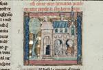 Sir Lancelot speaking with a hermit