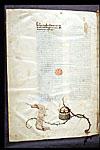 Emblem with scroll
