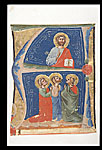 Christ and three saints