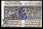 Alexander battling horse-headed men