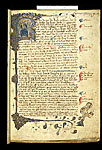 Historiated initial and bar border