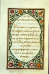 Text panel with entwined roses