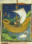 Knight in a boat