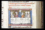 Uther and Merlin at table at Pentecost
