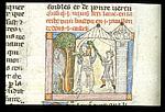 Dwarf hitting Lancelot with a staff