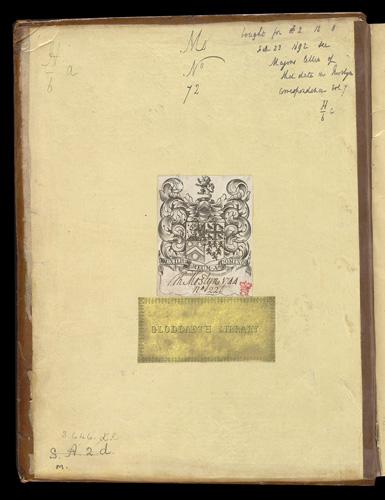 Book plates Sir Thomas Mostyn and the Gloddaeth Library