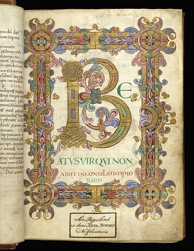 Illuminated initial and border