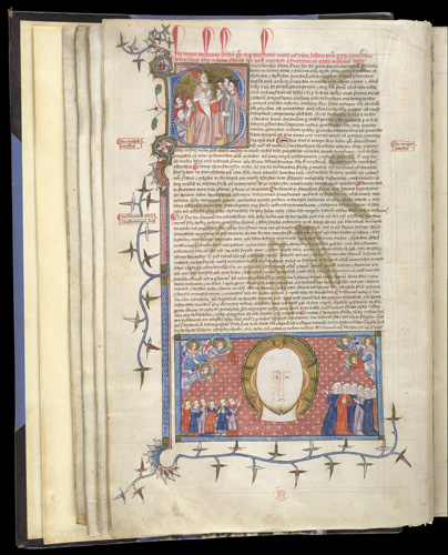 Benedict XII issuing decrees and the Beatific Vision