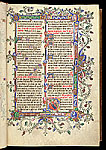 Illuminated border and historiated initial