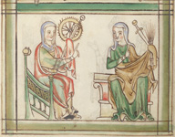 Catherine and a female saint