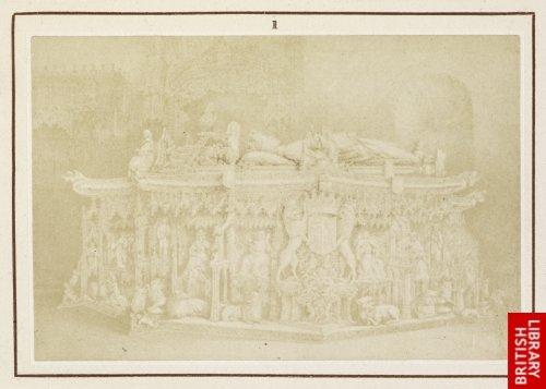 Gil de Siloe:  Marble tomb of King Don Joan II. in the Chartreuse of Miraflores near Burgos.