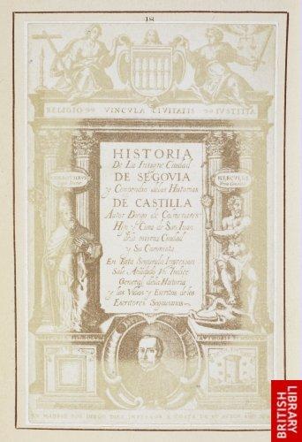 Diego de Astor:  Title page to 'Historia de Segovia'. (Madrid, 1640.)