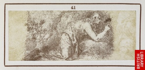 Alonso Cano:  St. Mary Magdalene. (From an original drawing by Cano.)